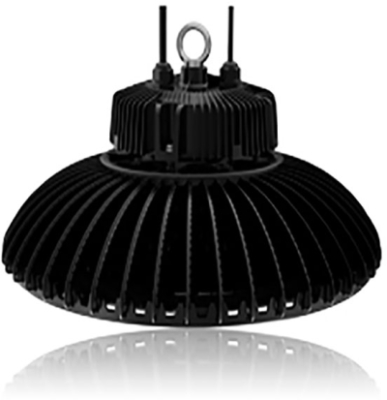 Circular High Bay 100W 5000K Dimmable LED Fitting with 110 Degree Beam Angle