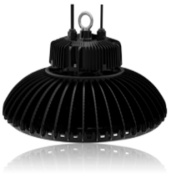 Circular High Bay 100W 5000K Dimmable LED Fitting with 50 Degree Beam Angle