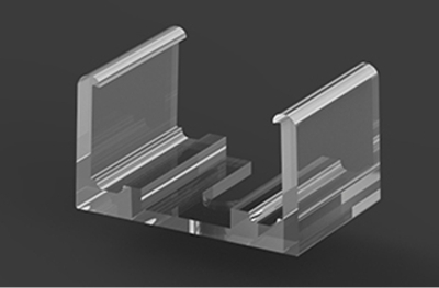 Clear Plastic Strip Profile Mounting Bracket For P4, P5 & P18