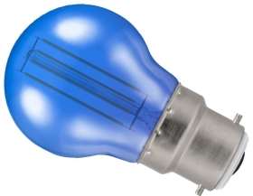 Crompton 4.5W BC Round LED Filament Bulb Blue (25 Watt Alternative)