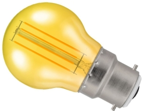 Crompton 4.5W BC Round LED Filament Bulb Yellow (25 Watt Alternative)