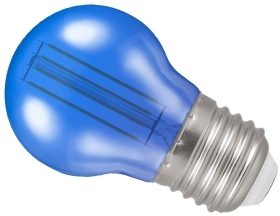Crompton 4.5W ES Round LED Filament Bulb Blue (25 Watt Alternative)