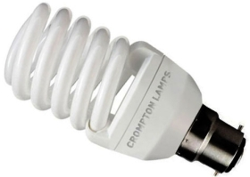 Crompton Energy Saving Mini Spiral 20w Very Warm White BC (100W Alternative)