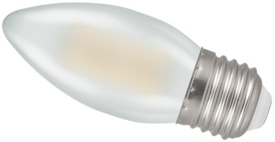 Crompton LED 4W Frosted Filament Candle ES Warm White (40W Alternative)