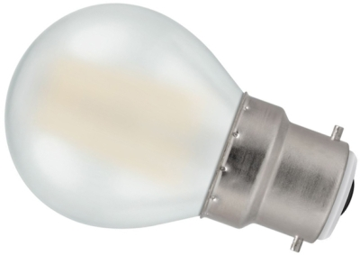 Crompton LED 4W Frosted Filament Round BC Warm White (40W Alternative)
