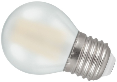 Crompton LED 4W Frosted Filament Round ES Warm White (40W Alternative)