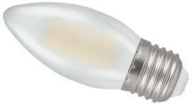 Crompton LED 5W Frosted Filament Dimmable Candle ES Warm White (40W Alternative)