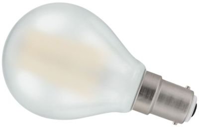 Crompton LED 5W Frosted Filament Dimmable Round SBC Warm White (40W Alternative)