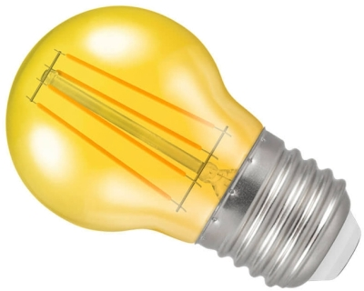 Crompton LED Golfball ES Yellow (40 Watt Alternative)