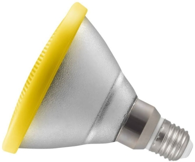 This is a 13W 26-27mm ES/E27 Reflector/Spotlight bulb that produces a Yellow light which can be used in domestic and commercial applications