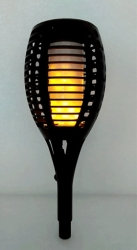 Deltech Flame Effect LED Black Solar Garden Spike Light