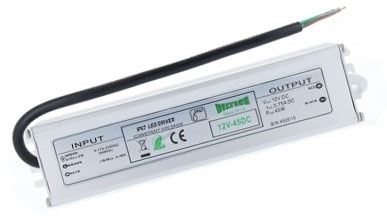 Deltech IP67 Low Voltage LED Driver 45 Watt Capacity