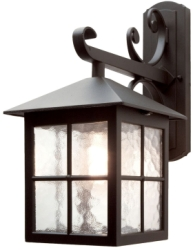 Elstead Lighting Outdoors IP43 E27 Winchester 1 Light Wall Down Lantern in Black