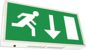 Emergency Exit Sign 1 x 8 watt (Maintained)