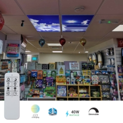 Ener-J Pack of 4 40W 600 x 600 LED Sky Panels (CCT Changing)
