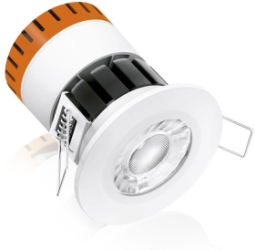 This is a 8W bulb that produces a Warm White (830) light which can be used in domestic and commercial applications