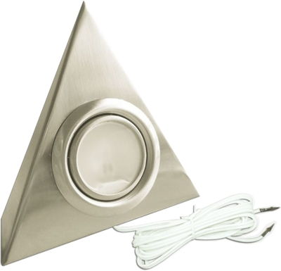 Eterna 20W Low Voltage Triangle Light Brushed Nickel