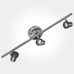 Eterna Brushed Nickel Triple Bar Spotlight (3x50W Max GU10 Lamps Required) LAMP NOT INCLUDED