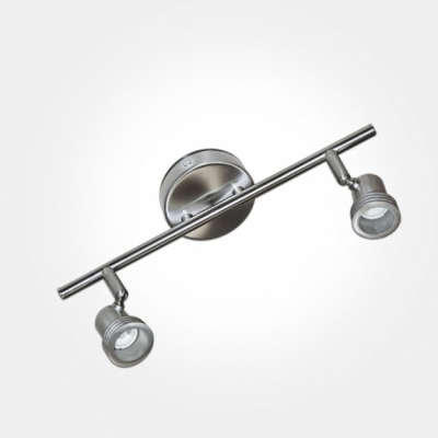 Eterna Brushed Nickel Twin Bar Spotlight (2x50W Max GU10 Lamps Required) LAMP NOT INCLUDED