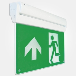 Eterna IP20 3 Hour 2.8W LED Multi Fixing Exit Sign with ISO 7010 Up Arrow (Pro - 5 Year Warranty)