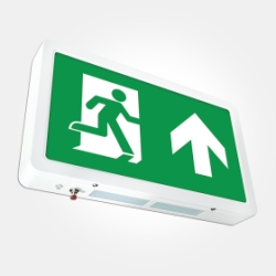 Eterna IP20 3 Hour 4W Compact Emergency LED Exit Box with ISO 7010 Up Arrow (Eco - 3 Year Warranty)