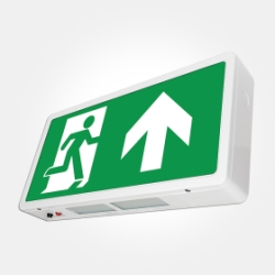 Eterna IP20 3 Hour 4W LED Maintained Emergency Exit Box with ISO 7010 Up Arrow (Pro - 5 Year Warran