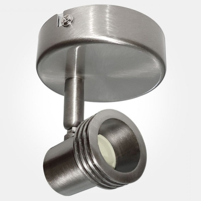 Eterna IP20 Brushed Nickel Single Unswitched Spotlight (1x50W Lamp Required) LAMP NOT INCLUDED