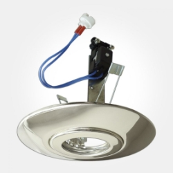 Eterna IP20 Polished Chrome Ceiling Downlight Converter (Requires 50W Max Lamp) LAMP NOT INCLUDED