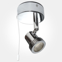 Eterna IP20 Polished Chrome Single Switched Spotlight (1x50W Lamp Required) LAMP NOT INCLUDED