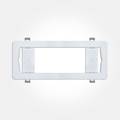 Eterna IP20 White Semi Recessed Bulkhead Frame