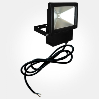 Eterna IP44 Black 3x3W RGB Colour Selectable Floodlight (Pre-Wired)