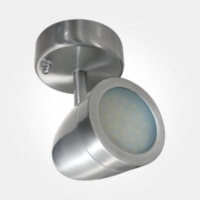 Eterna IP44 Cool White 4.3W Satin Nickel LED Wall Spot Light