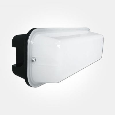 Eterna IP44 Cool White 8W Black LED Nano Bulkhead