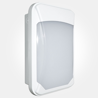 Eterna IP65 17W LED Colour Temperature Selectable Slim Wall Bulkhead in White