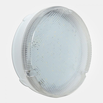 Eterna IP65 Cool White 18W Emergency + MW Sensor Circular LED Utility Fitting with Prismatic Diffuse