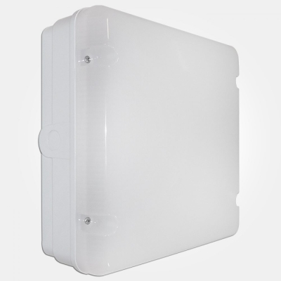 Eterna IP65 Cool White 18W Standard Fresh Prince Square LED Utility Fitting with Opal Diffuser