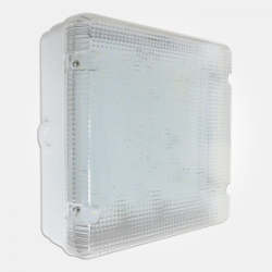 Eterna IP65 Cool White 18W Standard Fresh Prince Square LED Utility Fitting with Prismatic Diffuser