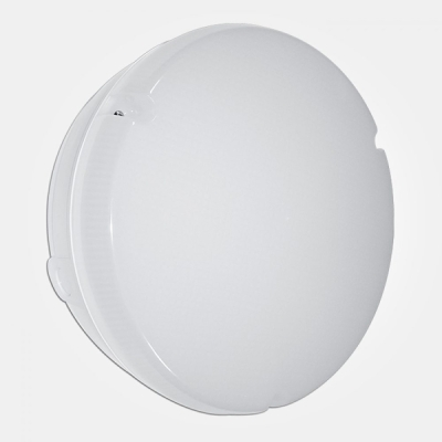 Eterna IP65 Cool White 18W White Emergency + MW Sensor Circular LED Utility Fitting with Opal Diffu