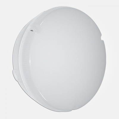 Eterna IP65 Cool White 18W White MW Sensor Circular LED Utility Fitting with Opal Diffuser