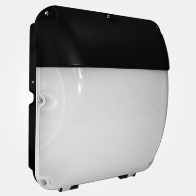 Eterna IP65 Cool White 30W Black Integrated LED Bulkhead with Photocell