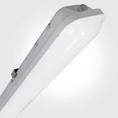 Eterna IP65 Cool White 48W Grey Twin 5FT LED Weatherproof Fitting