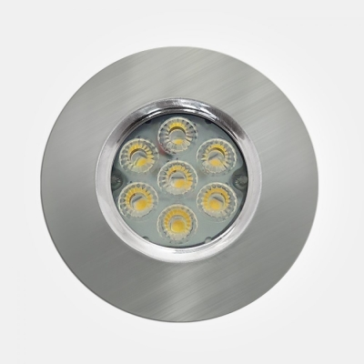 Eterna IP65 Cool White 6.5W Satin Nickel Dimmable LED Fire Rated Integrated Downlight with 4 Pole Co