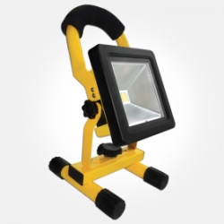 Eterna IP65 Daylight 10W Yellow Rechargeable LED Floodlight with Mains & Car Charger