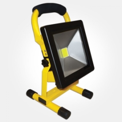 Eterna IP65 Daylight 20W Yellow Rechargeable LED FloodLight with Mains & Car Charger