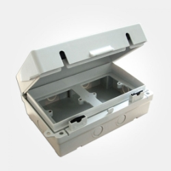 Eterna IP65 Grey 2 x 1 Gang Waterproof Accessory Box