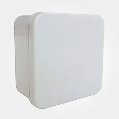 Eterna IP65 Grey Plastic Adaptable Box (90mm x 90mm x 50mm)