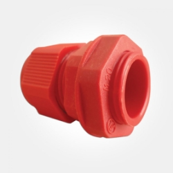 Eterna IP68 Red 20mm TRS Gland with Locking Nut