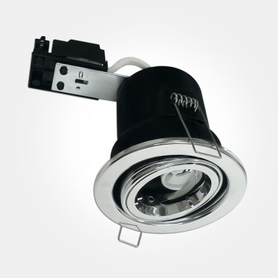 Eterna Polished Chrome TILT Fire Rated Downlight (Requires 50W Max Lamp) LAMP NOT INCLUDED