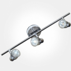 Eterna Polished Chrome Triple Bar Spotlight (3x50W Max GU10 Lamps Required) LAMP NOT INCLUDED