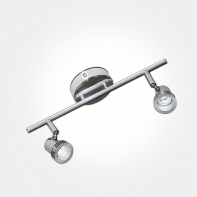 Eterna Polished Chrome Twin Bar Spotlight (2x50W Max GU10 Lamps Required) LAMP NOT INCLUDED